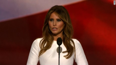 "Melania Trump's speech brouhaha has social media LOLing. CNN'S Jeanne Moos has the best tweets.    Melania's Mess   A twitterstorm erupts over Melania Trump's speech. We compile our favorites. Will focus on the #FamousMelaniaTrumpQuotes jokes. We also detour to Queen complaining about the Donald making his grand entrance to their song , ""We are the Champions."" Added bonus...Melania inadvertently rickrolled her audience in mid speech. Quite funny when you juxtapose her bite from the speech with ""Never Gonna Give You Up."""
