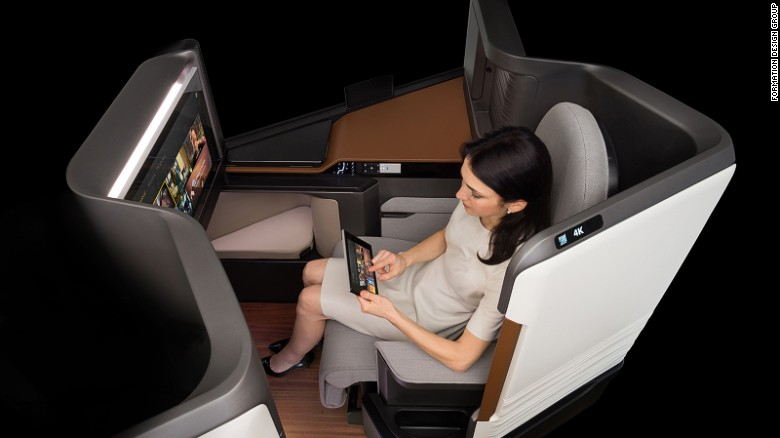 Panasonic's Waterfront system  allows passengers to use their mobile devices to control an aircraft's built-in entertainment.