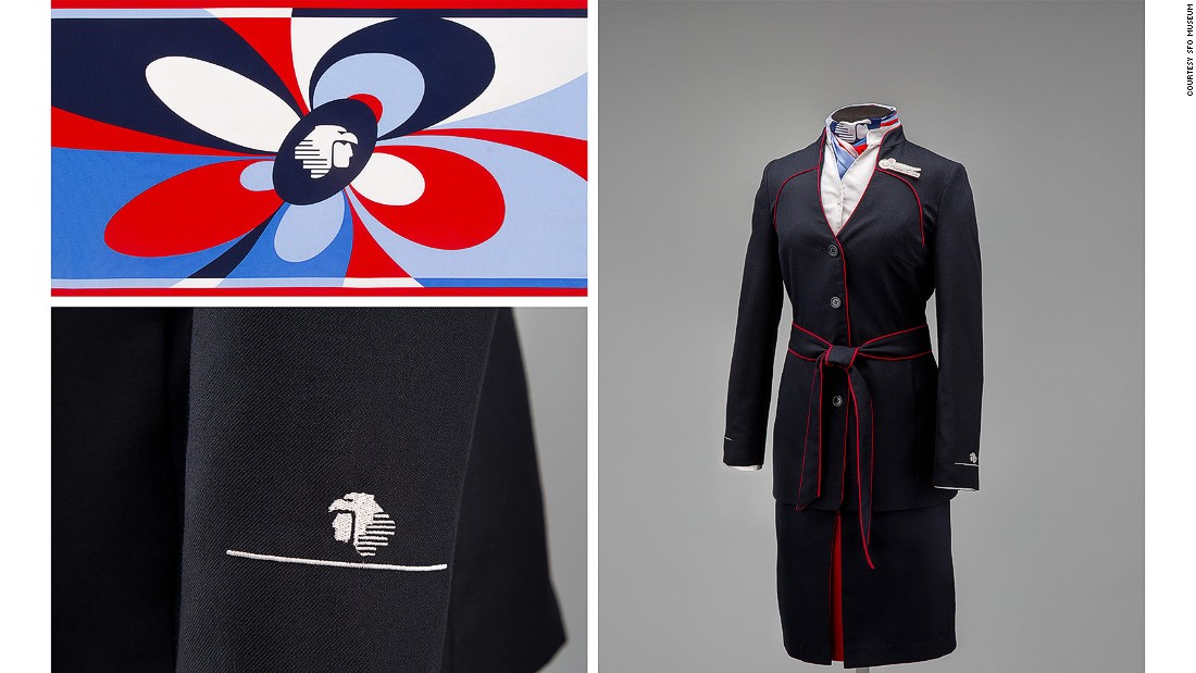 This 2008 Aeromexico uniform by Macario Jimenez resurrects the polyester suit, which can be worn in both skirt and pant versions.