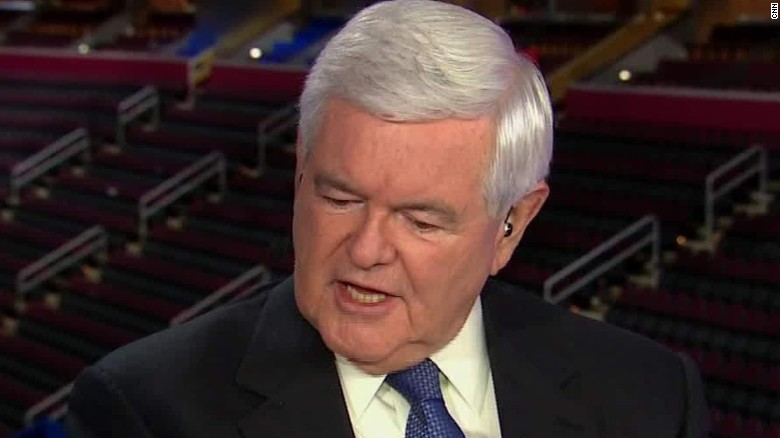 rnc newt gingrich melania trump speech who cares sot jamie gangel newsroom_00010519
