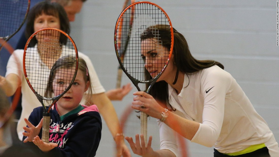 The Duchess of Cambridge has also shown off her tennis skills and is a keen enthusiast.