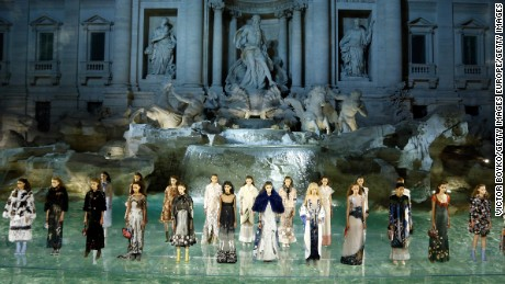 Fendi makes fashion history at the Trevi Fountain