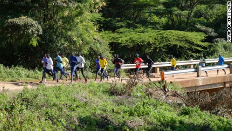 A morning training run in Ngong, Kenya.