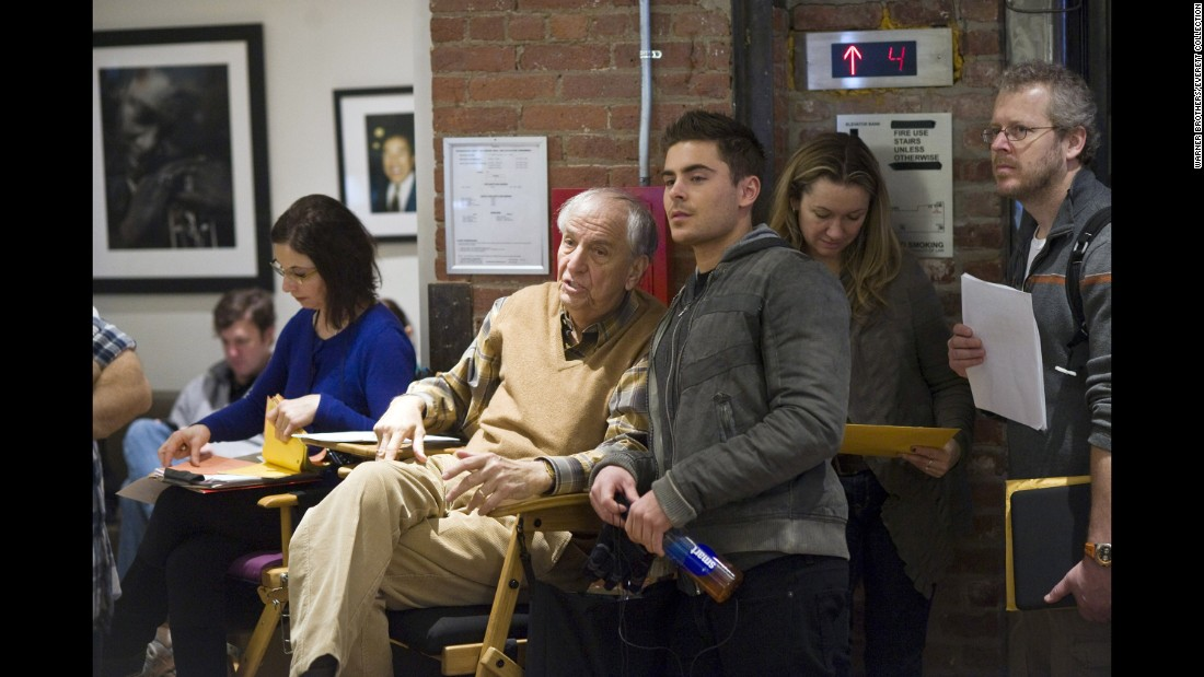 "Marshall and Zac Efron on the set of ""New Year's Eve"" in 2011."