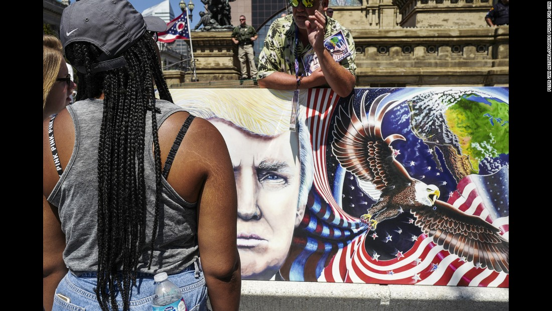 """Public Square is one of the few public spaces open to licensed demonstrations. The convention is """"not something you come to and look for subtle validation of the democratic process,"""" van Agtmael said."""