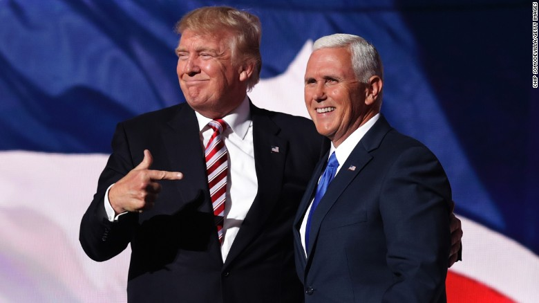 Trump interview contradicts Pence