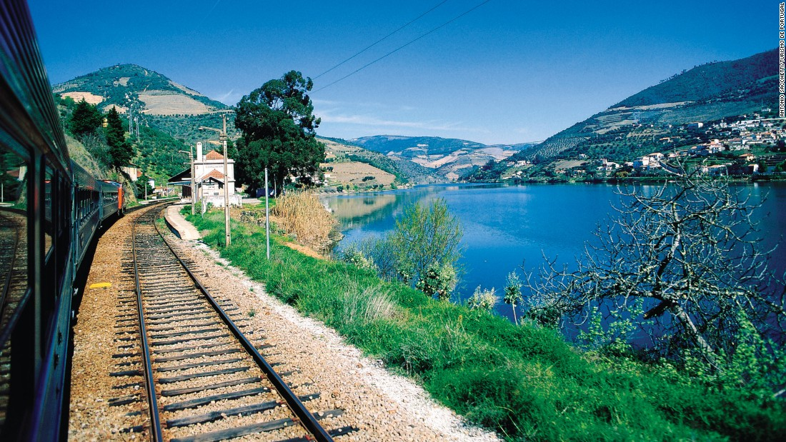 A three-hour train ride from Porto to the end of the Douro line provides breathtaking views at each curve.