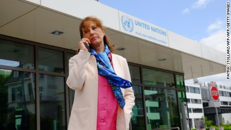 French Environment minister Segolene Royal makes a phone call after the opening ceremony of the Bonn Climate Change Conference as part of the United Nations Framework Convention on Climate Change (UNFCCC) in Bonn, western Germany, on Mai 16, 2016.  Five months after ushering in the world's first global climate pact, frontline climate diplomats kicked off a new round of talks tasked with converting a landmark political achievement into concrete results. / AFP / PATRIK STOLLARZ        (Photo credit should read PATRIK STOLLARZ/AFP/Getty Images)