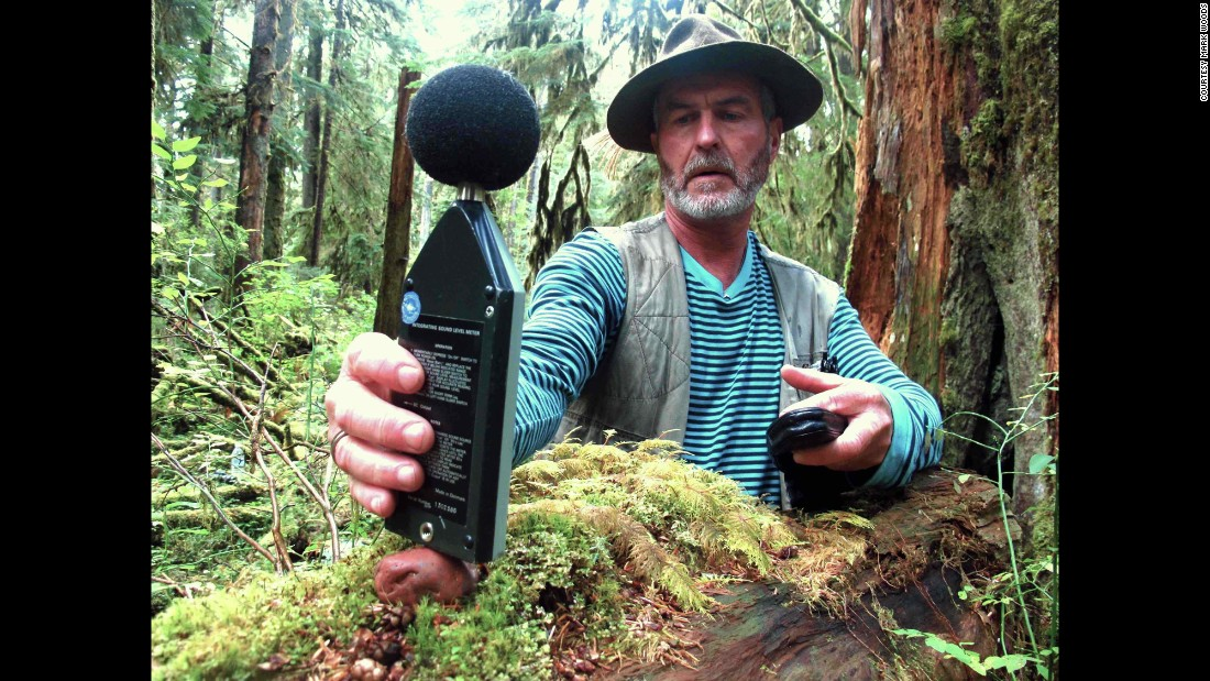 """Gordon Hempton won an Emmy for his recordings of natural sound and considers Olympic National Park in his backyard to be one of the 'last quiet places on earth,'"" wrote Woods. ""In an effort to preserve that quiet, he started a noise control project built around a spot in the Hoh Rain Forest that he dubbed 'One Square Inch of Silence.' During a visit to Olympic, I hiked with Hempton to the spot and camped one rainless night in the rain forest.""<br />"