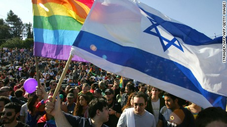 Last year's Pride march in Jerusalem attracted thousands of people