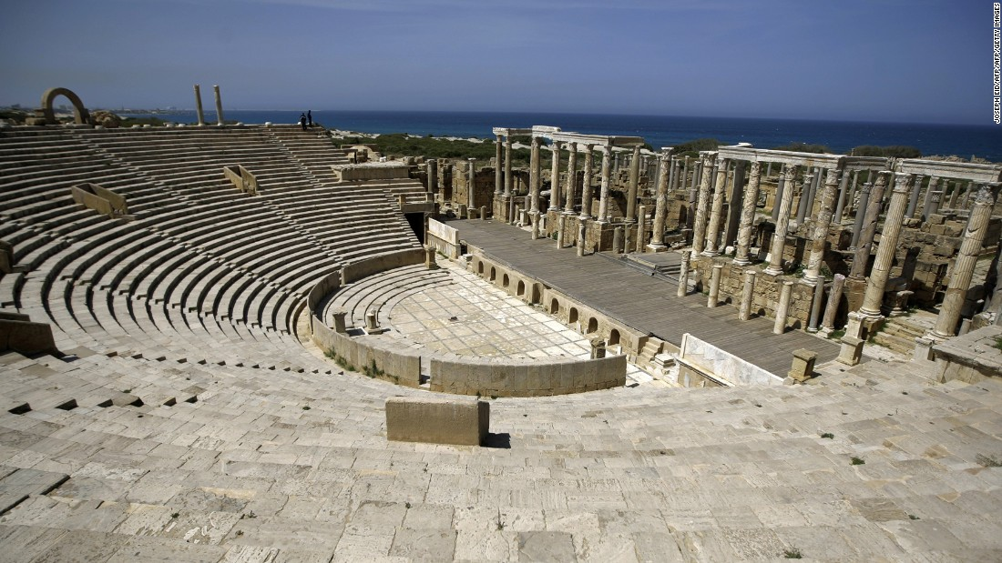 The city was known as one of the most beautiful in the Roman Empire, featuring an incredible amphitheater with a view of the Mediterranean.