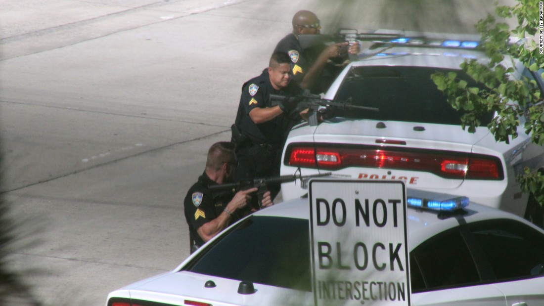 "Police block a highway in Baton Rouge, Louisiana, after a man killed three law enforcement officers and wounded three others on Sunday, June 17. <a href=""http://www.cnn.com/2016/07/17/us/baton-route-police-shooting"" target=""_blank"">The ambush</a> came nearly two weeks after the police shooting of Alton Sterling, a black Baton Rouge resident, and officials said police were targeted because of it."