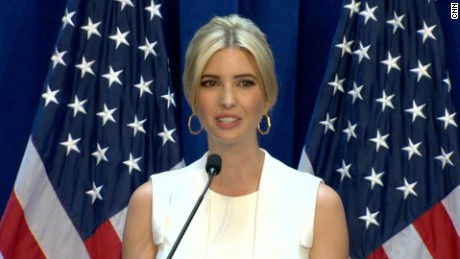 Ivanka Trump prepares to introduce her father at RNC