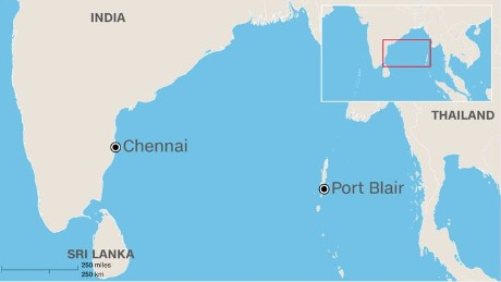 The missing plane took off from Chennai and was scheduled to land at Port Blair.