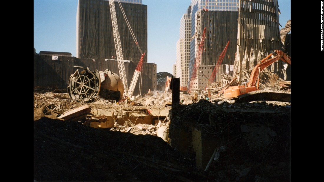 """The Sphere"" once stood in the middle of Austin J. Tobin Plaza, the area between the World Trade Center towers in Manhattan."