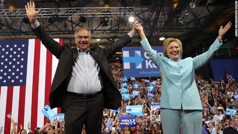 Clinton: Behind Kaine's smile is a backbone of steel