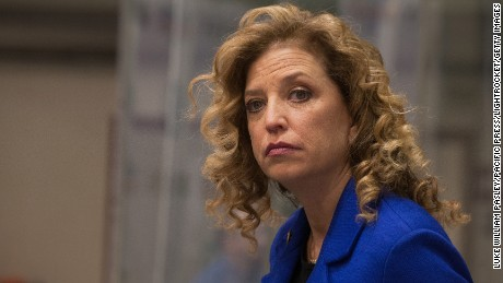 Congresswoman and DNC Chair Debbie Wasserman-Schultz at the third Democratic presidential debate in 2015.