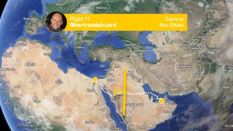 An infographic released by Solar Impulse detailing the route of the aircraft's final leg.