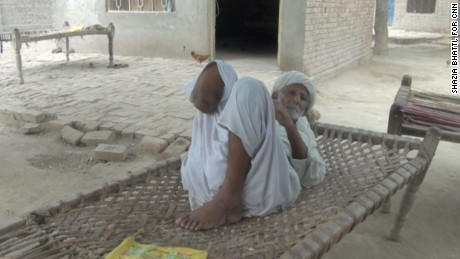 "Azeem is missing his right lower leg. His son should face ""God's wrath,"" he told CNN."