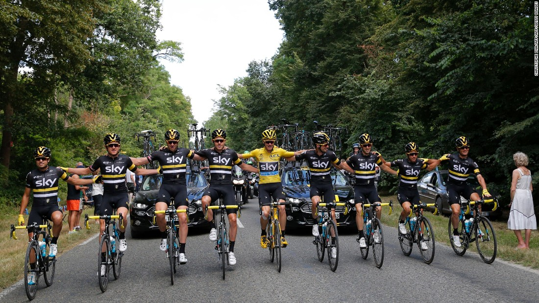 Team Sky riders set off on the final stage of the 2016 at the end of 21 punishing stages that traversed France.