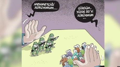 Turkey crackdown on satire cartoonists
