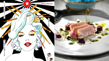 Each of the dishes on Popsy Room's menu is paired with a specific piece of art.