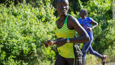 South Sudanese refugee Rose Nathike Lokonyen was selected for the refugee Olympic team that will compete in Rio.