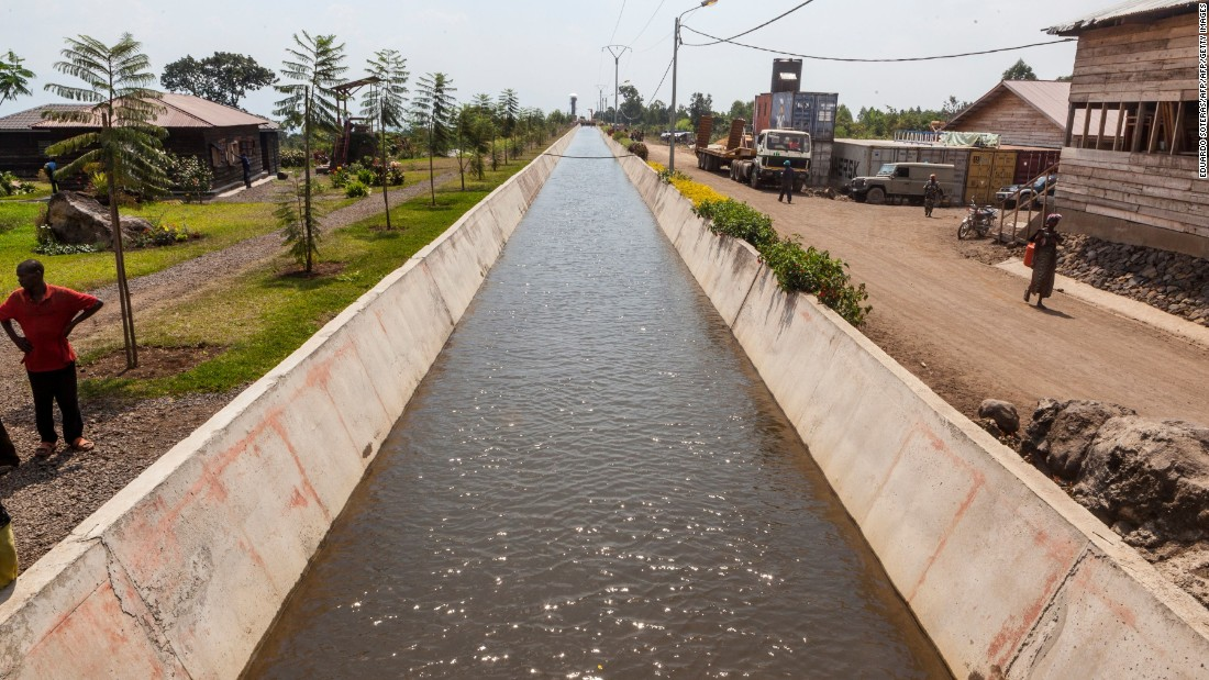 The completed waterway at Matebe, although the Virunga Alliance say upgrades to the facility are ongoing.