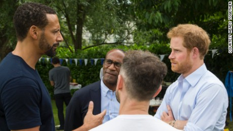 Prince Harry opened up to Manchester United footballer Rio Ferinand about how he regrets not opening up about his mother's death