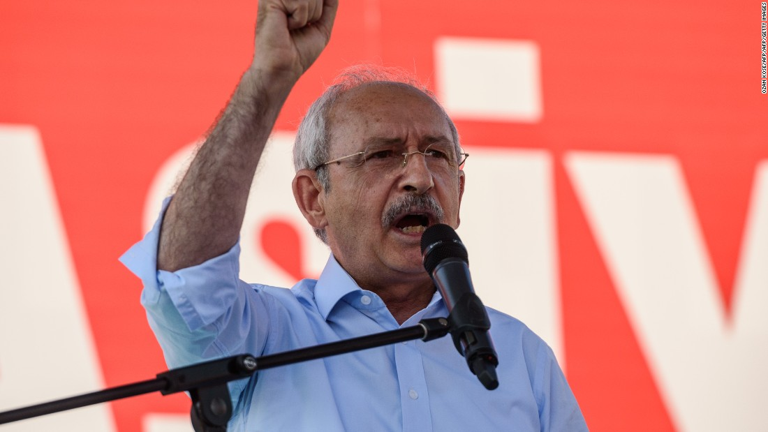 """We are all together in Taksim today,"" Kemal Kilicdaroglu, leader of the opposition, told supporters. ""Today is a day we made history all together,"""