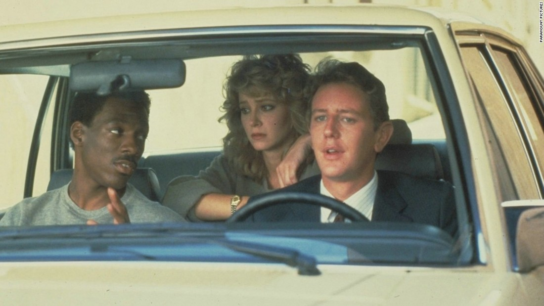 "<strong>""Beverly Hills Cop""</strong>: Eddie Murphy, Judge Reinhold, and Lisa Eilbacher star in this film about a wisecracking Detroit cop who gets caught up in a Los Angeles murder investigation. <strong>(Hulu)</strong>"