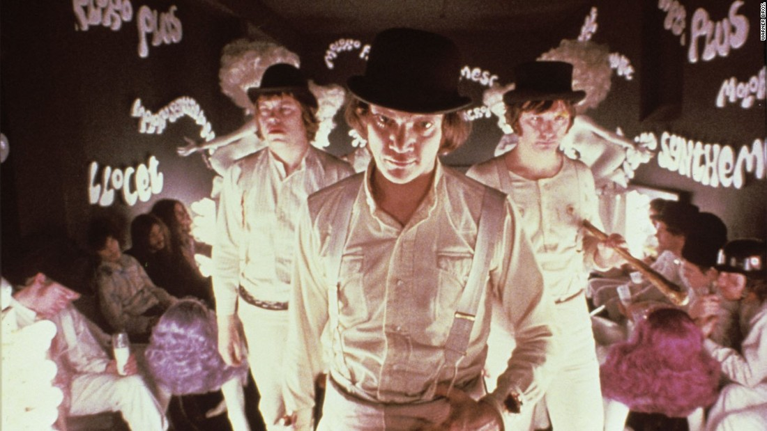 "<strong>""A Clockwork Orange""</strong>: Malcolm McDowell, Warren Clarke, and James Marcus in this now cult classic film.""<strong> (Amazon Prime) </strong>"