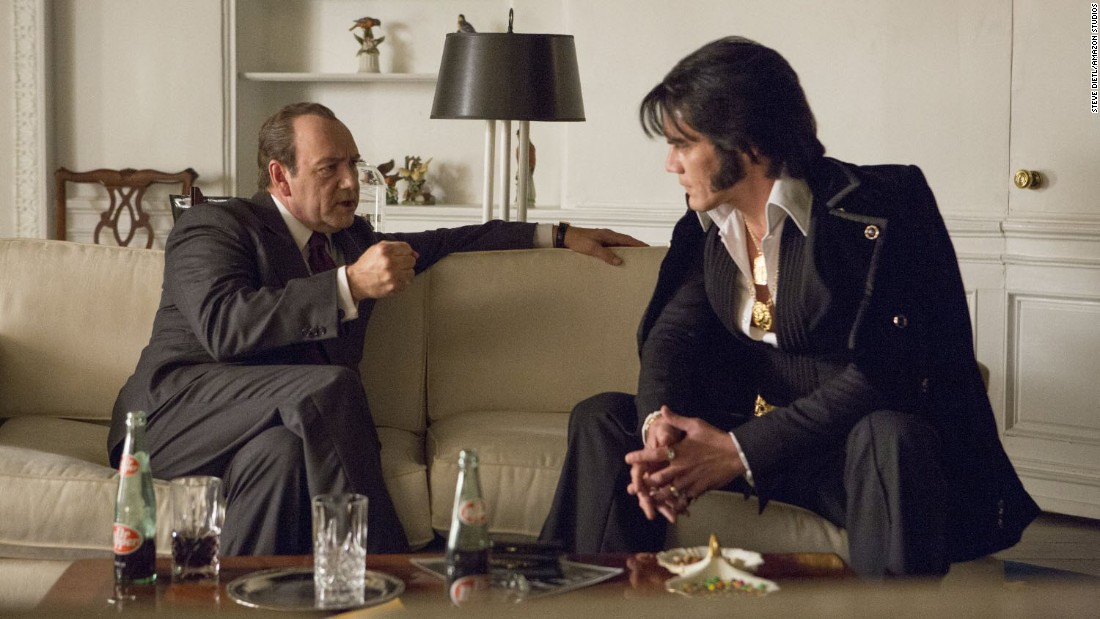 "<strong>""Elvis & Nixon""</strong>: Kevin Spacey and Michael Shannon star as President Nixon and Elvis Presley in this Amazon original film about the untold story behind the real-life meeting of the pair. <strong>(Amazon Prime) </strong>"