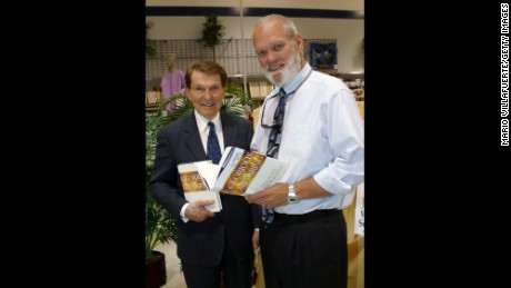 Timothy LaHaye, left, and Jerry B. Jenkins during a 2004 book tour.