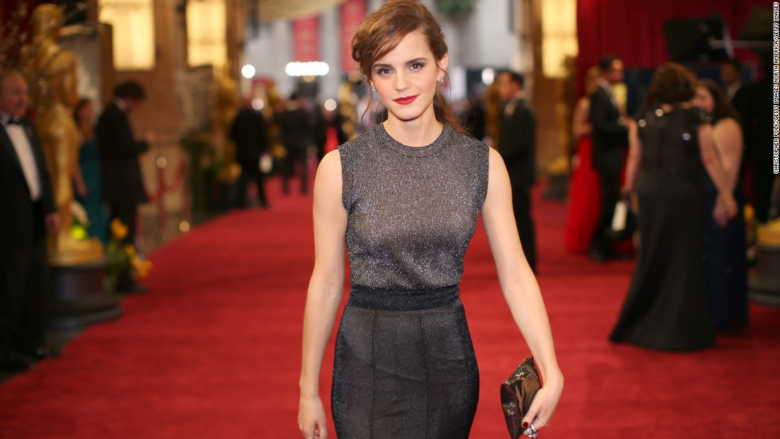 "Actress Emma Watson wears the crisp packet bag, which Hindmarch selects as the bag that best describes her personality. ""I love the way it's a little bit irreverent,"" she says."
