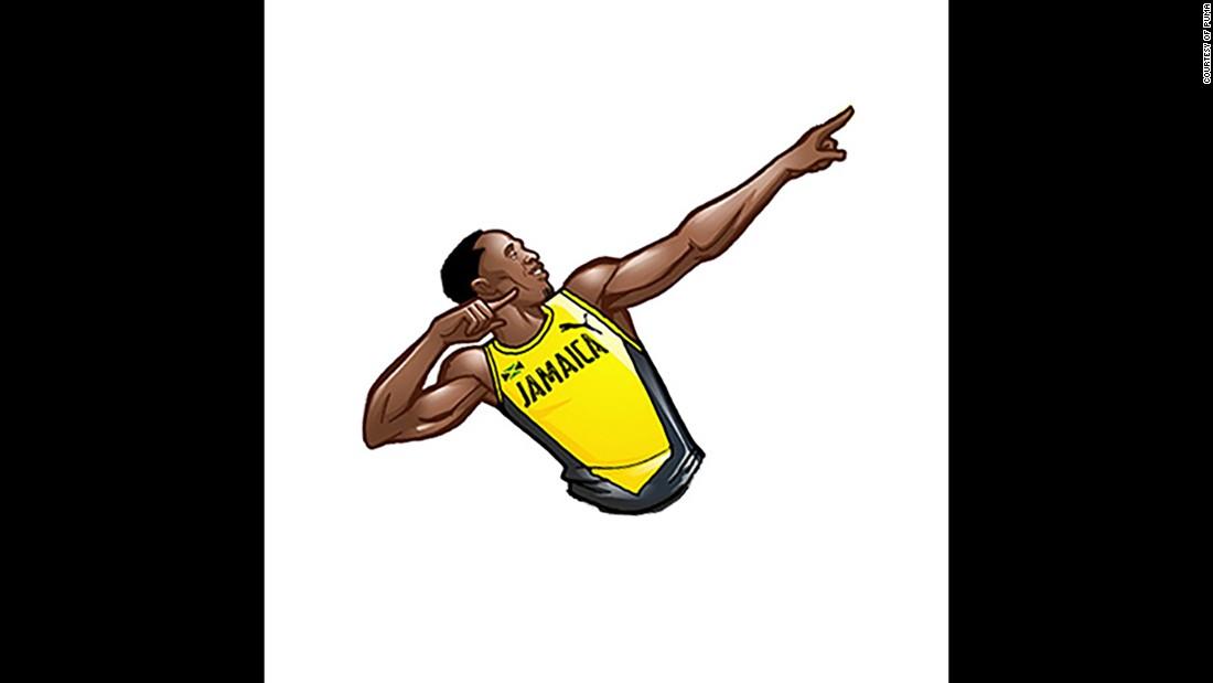 Posing Bolt.