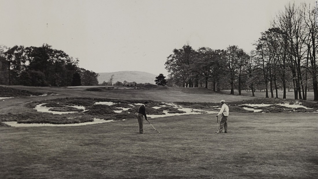"The club reopened in 1922 with two layouts -- the Lower and Upper Courses, both of which have staged major tournaments. Pictured is the ""Great Hazard"" designed by course architect A. W. Tillinghast for the Lower's 17th fairway."