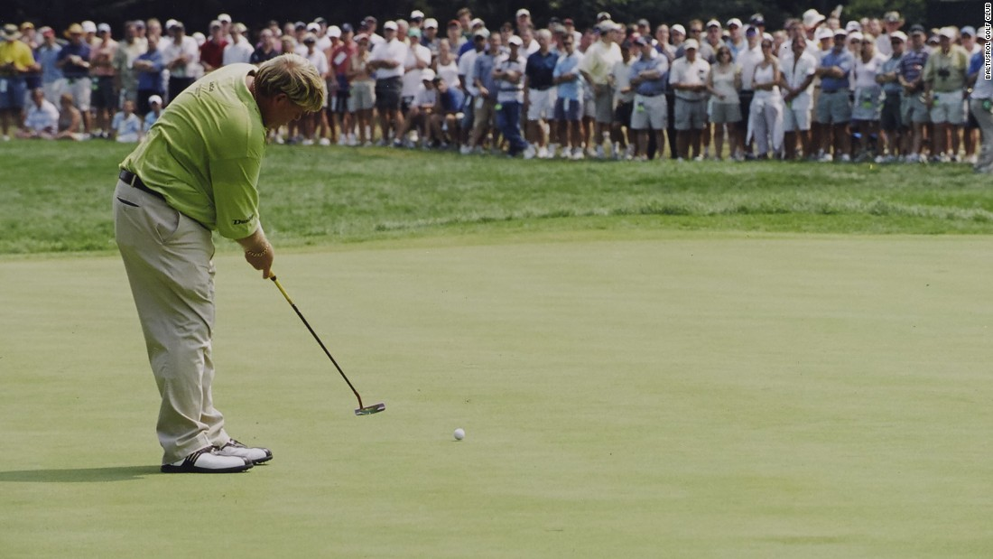 At the 1993 U.S. Open, John Daly became the first golfer to reach the green at the Lower Course's 630-yard par-five 17th hole in two shots.  He repeated the feat at the 2005 PGA.