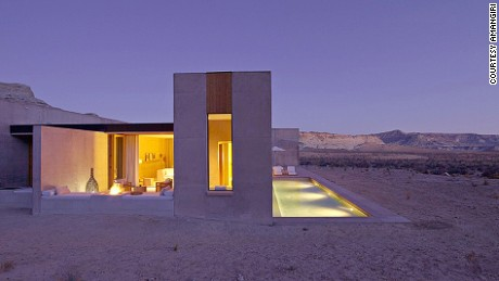 Amangiri's 34 suites boast private courtyards with show-stopping desert views.