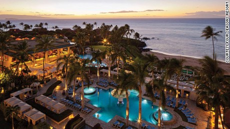 The horseshoe-shaped hotel trumps all other beautiful resorts on Maui.