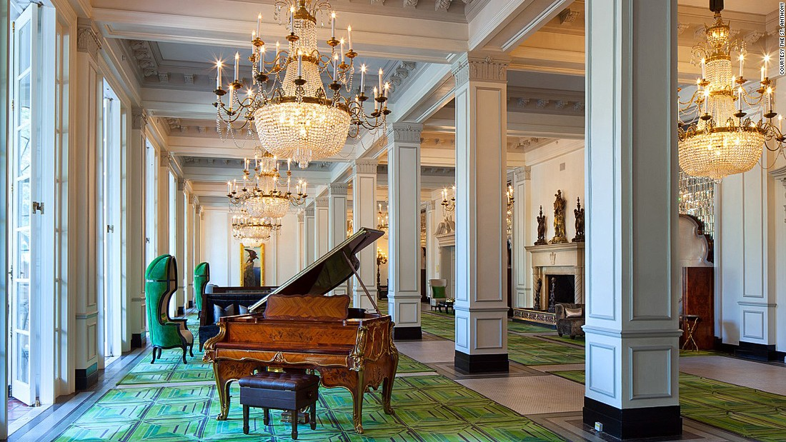 After a $24 million renovation in 2015, the century-old St. Anthony in San Antonio, Texas, was restored to its original Victorian-era glory, with the addition of quirky modern touches like acid-green velvet.