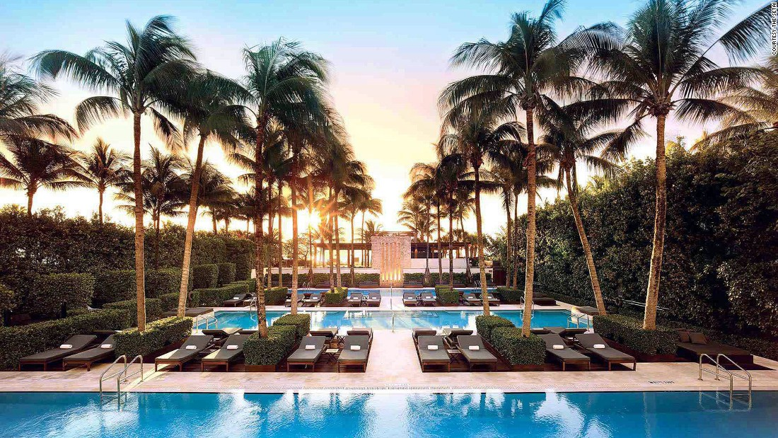 The Setai's Art Deco-meets-Eastern architecture makes it feel more like a hip urban hotel than a beachfront resort. But its three pools bring it back to its Miami location.