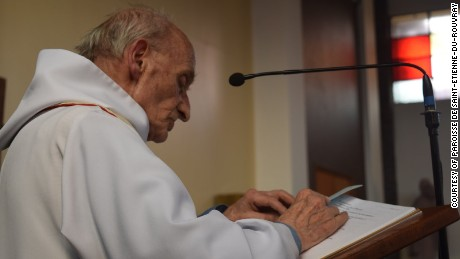 Jacques Hamel, the 86-year-old Catholic priest slain in an attack in Saint-Etienne-du-Rouvray, France.