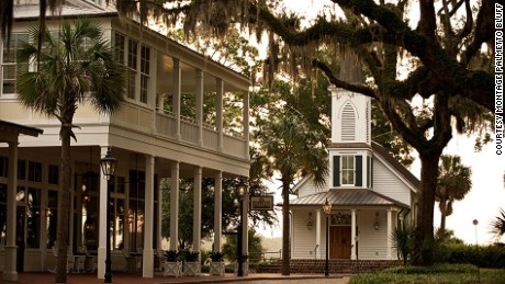 The main River House -- with its gabled roof and antebellum architecture -- is a highlight of Montage Palmetto Bluff.