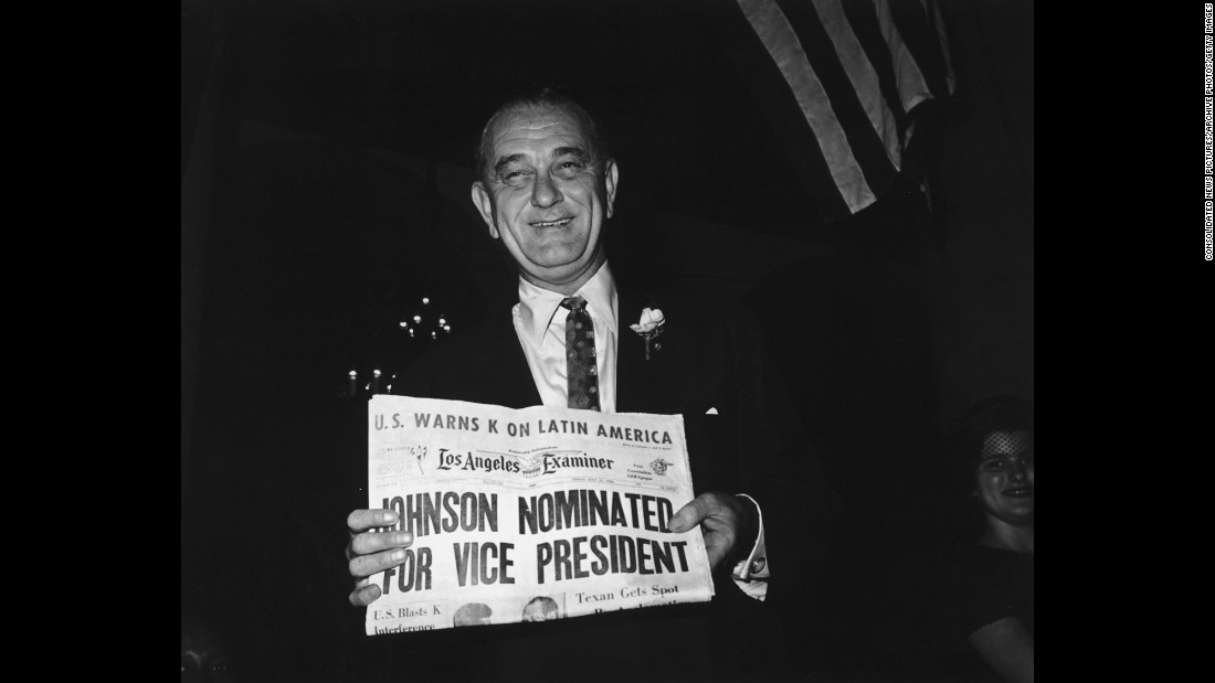Kennedy surprised many by offering the vice presidential slot to Johnson, his chief rival from Texas. Johnson had announced his candidacy only a week before the convention but couldn't win enough delegates to overtake Kennedy.