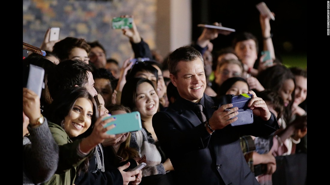 "Actor Matt Damon poses with fans ahead of the ""Jason Bourne"" premiere in Sydney on Sunday, July 3."