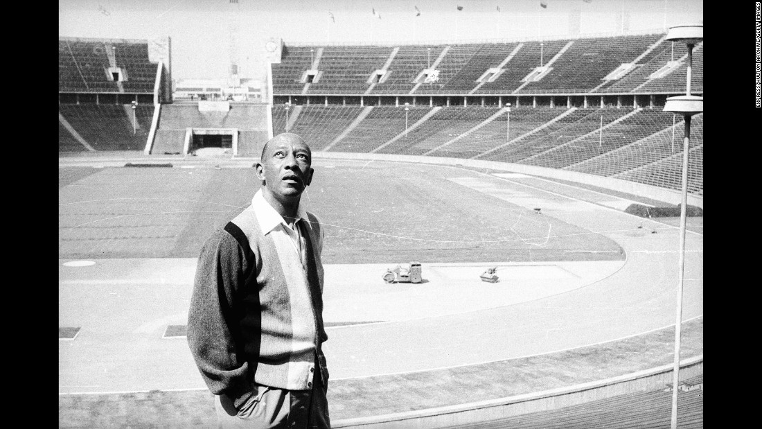 "Owens revisits the Berlin stadium in July 1965. ""I wanted no part of politics,"" Owens said in Tony Gentry's book ""Jesse Owens, Champion Athlete."" ""And I wasn't in Berlin to compete against any one athlete. The purpose of the Olympics, anyway, was to do your best. As I'd learned long ago from (coach) Charles Riley, the only victory that counts is the one over yourself."" Owens died of lung cancer in 1980. He was 66 years old."