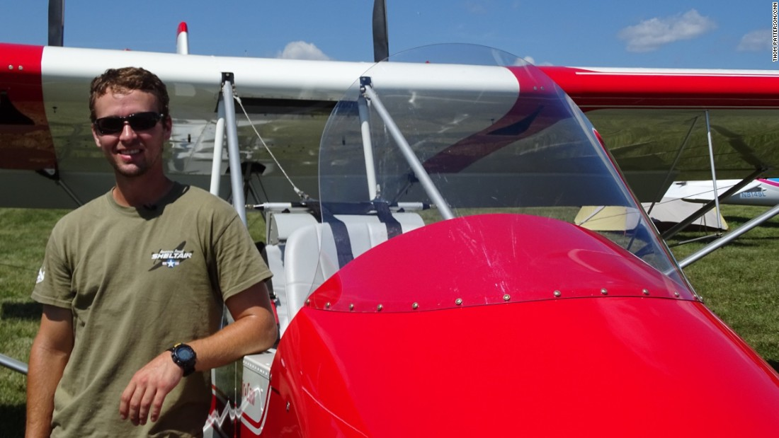 Matt Tisdale built this AirCam experimental plane from a kit and flew it more than 11 hours from Greenville, South Carolina, to the AirVenture air show in Oshkosh.