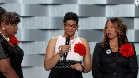Mothers take stage at DNC to 'Black Lives Matter' chant