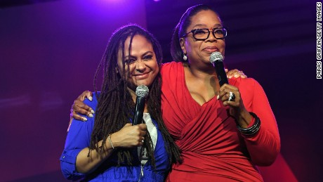 Director Ava DuVernay and Oprah Winfrey speak onstage during the 2016 ESSENCE Festival on July 2 in New Orleans, Louisiana.